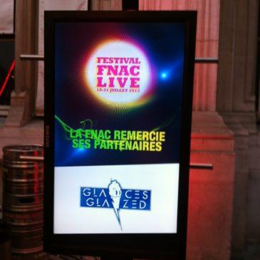 Les Glaces Glazed partenaires du Fnac Live Festival