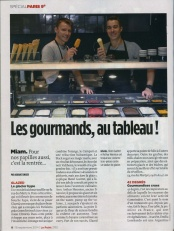 Les Gourmands au tableau – Glazed – Le Point Sept. 2014