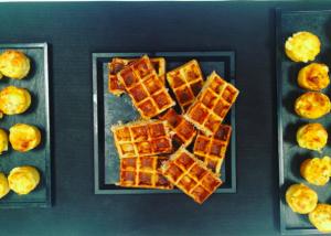 mini gaufres salées Glazed