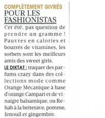 Glazed dans Madame Figaro – Juillet 2012