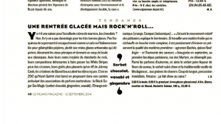 Glazed – Figaro Magazine Septembre 2014
