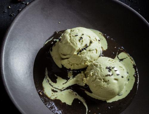Glace pistache et crème de sésame noir : Mister Green